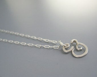 Silver Ampersand Necklace - modern minimal & symbol choker with delicate silver plated chain, friendship jewelry