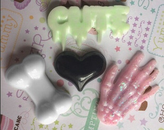 Creepy Cute Magnets, Kawaii Resin Magnets