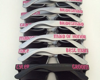 Personalized Sunglasses, Bachelorette Party, Bridal Party Gifts, Spring Break, Bachelor Party, Bachelorette Gifts