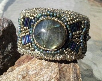 Example - Order one similar. Labradorite cuff bracelet - Native American made
