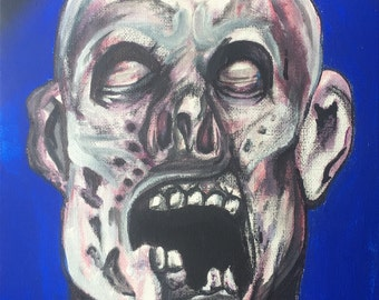 """ORIGINAL 8x11 """"Portrait of the Undead"""" on canvas direct from the artist!"""