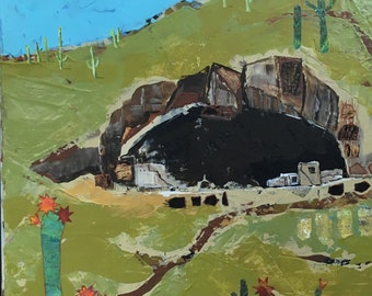 Ancient Dwellings Mixed Media On Canvas