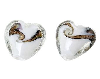 lampwork heart 19 x 20mm bead
