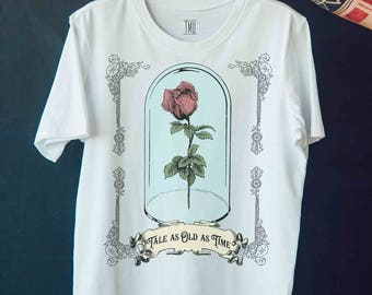 Beauty and the Beast, Tale as Old as Time, Beauty and the Beast T-shirt, Disney shirt, two styles available, Sizes (US) Small-3XL