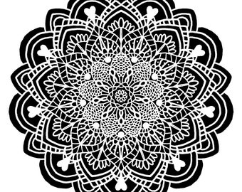 Downloadable Mandala Designs and Prints Coloring Pages (set of 5) SET A24