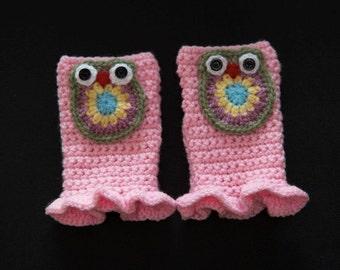 Girl OWL mittens