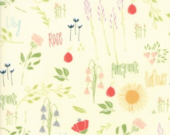 Moda THE FRONT PORCH Quilt Fabric 1/2 Yard By Sherri & Chelsi - Ivory 37540 11