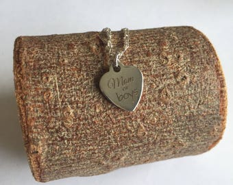 Mom of Boys Necklace