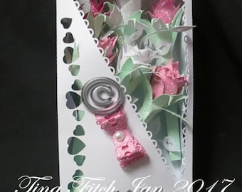 Box of Roses, SVG,Silhouette Cameo,Cricut,ScanNCut,Scal,Mtc