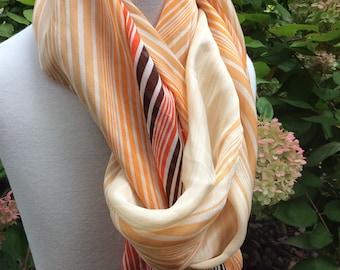 Vintage Long Silk Adrienne Vittadini fashion scarf