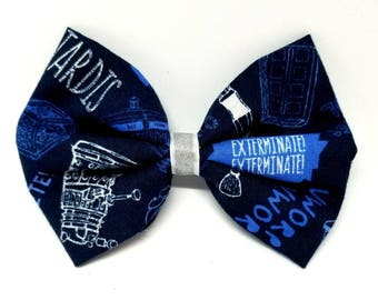 Doctor Who Exterminate! - Unique Doctor Who Birthday Gift - Doctor Who Dog Bow Tie - Doctor Who Hair Bow - Doctor Who Cat Bow Tie
