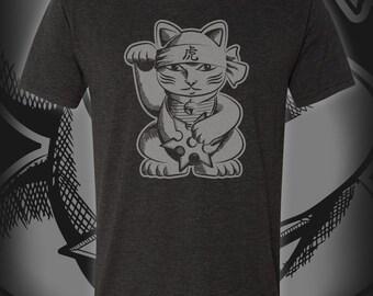 Maneiki-Neko Ninja Cat T-Shirt