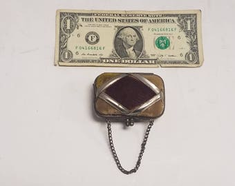Antique French Coin Purse, Victorian,  approximately 1880's Fashion,