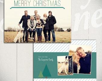 Christmas Card Template: O Christmas Tree A - Holiday Card 5x7 Template
