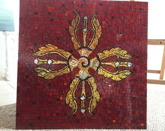 Red and Gold Mosaic