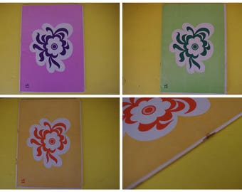 Vintage Spanish A5 Exercise Book - Centre Floral Design - Blank and Unused