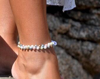Beaded Anklet | Ankle Bracelet | Beach Wedding Anklet | Bridal Anklet | Bridesmaid Gift | Boho Wedding | Pearl Anklet | Destination Wedding