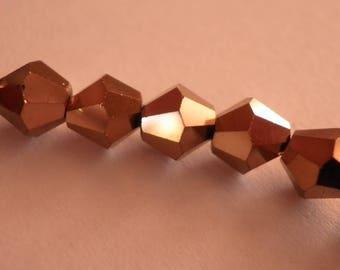 copper 10 6 mm color glass bicones