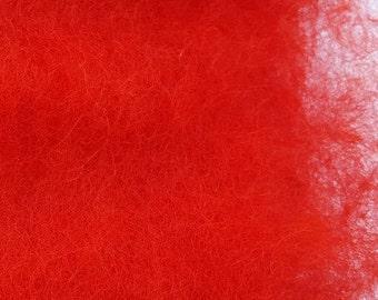 Merino Wool Roving - Cardinal - 1 oz