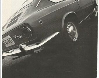 1968 Advertisement Fiat 850 Fastback Coupe 60s Sports Car Italian Made Shop Garage Dealership Decor Wall Art