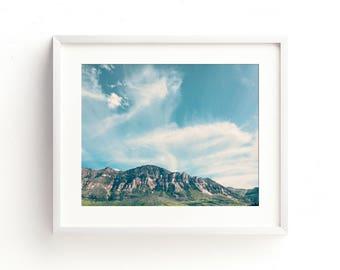 "landscape wall art, landscape photography, landscape art prints, photography prints, large art, large wall art - ""Blue Skies on My Mind"""