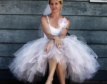 Bella Mode - Custom Reversible Mid-length Tulle Skirt - SEWN Tutu - Choose your colors and length