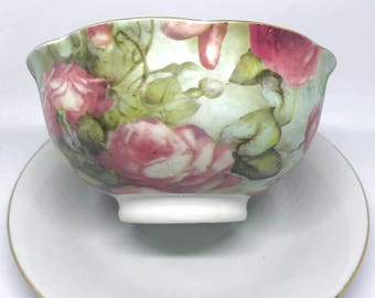 FREE SHIPPING - Small Floral Rice Bowl // Noodle Bowl // Soup Bowl // Pho