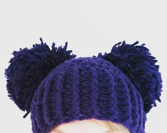 pom pom hat crochet pdf pattern