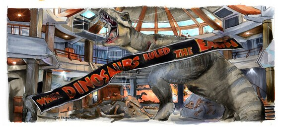 Jurassic Park - When Dinosaurs Ruled the Earth  Poster Print