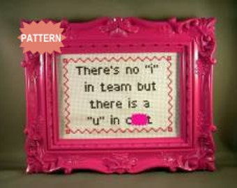 """PDF/JPEG There's No """"I"""" In Team.. (Pattern)"""