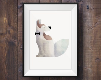 Canadian Inuit Husky Print - Signed Canadian Wildlife Series - Canada 150