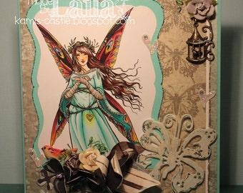 Digital Stamp - Instant Download - A Heart - Fantasy Line Art for Cards & Crafts by Artist Sara Burrier for Crafts and Me