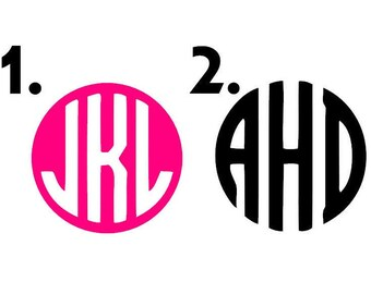 Monogram Initial Decal Sticker for Car Laptop Window