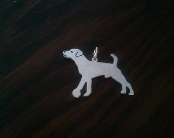 Jack Russell with ball Sterling Silver pendant