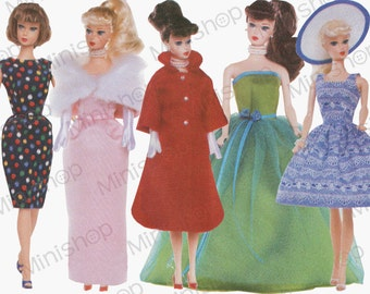 Barbie doll Sewing Pattern: 9686