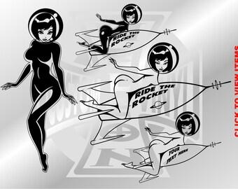 Erotic Rocket Girl Decals