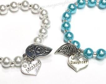 Mutter-Tochter-Armband-Set. Beste Freundin-Charme-Armband-Set. Personalisierte Namen Armband Mutter Tag Geschenk für Mama Mutter-Tochter-Geschenk