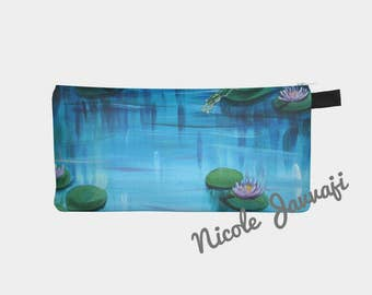 Lilypad Leap Pencil Case 9x4 Digital Print Original Artwork