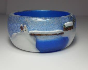 Winter Wonderland Snow Globe Bangle Bracelet