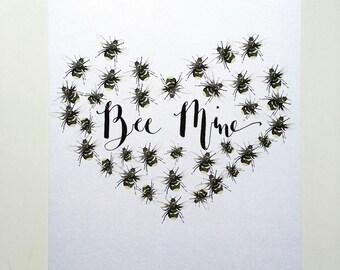 Bee Mine A4 print
