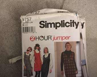 Simplicity Pattern  # 9757  Misses Jumper SIZE LG XLG