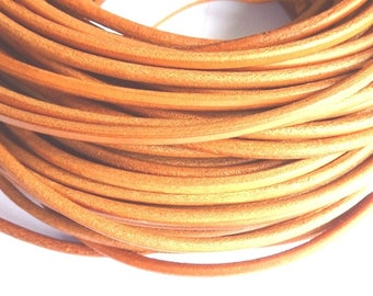 leather cord 3 mm natural PR01200 100 m