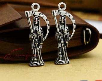 2PCS--49x19mm Grim Reaper charms, Antique Tibetan silver Death Charm. Goth Pendant. Angel of Death charm , Jewelry Making JAS5268