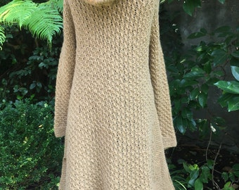 Alpaca Coat or long sweater, Knitted Coat, Long Knitted Coat, Oversized coat, womens
