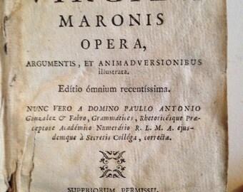 1779 Works of Virgil - 18th Century Vellum Book in Latin