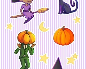 witchery etc sticker sheet