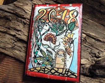 Pocket Calendar Lucky Mushroom 2018