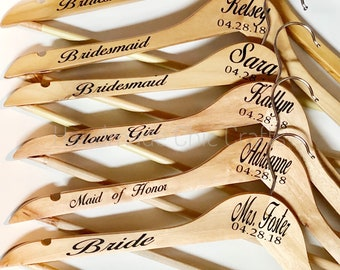 Wedding Hanger, Personalized gifts, Bride Hanger, bridesmaids gift, Wedding Dress Hanger, Bridal Hangers, Personalized Wedding Hangers,