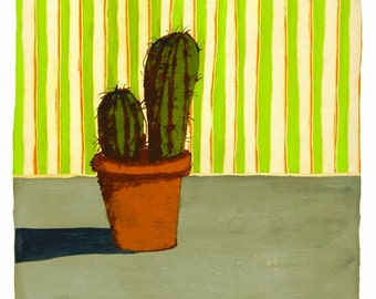Cactus with Wallpaper (Limited Edition Print)