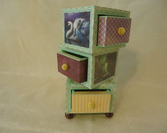 Fairy 3 Drawer Stacked Chest